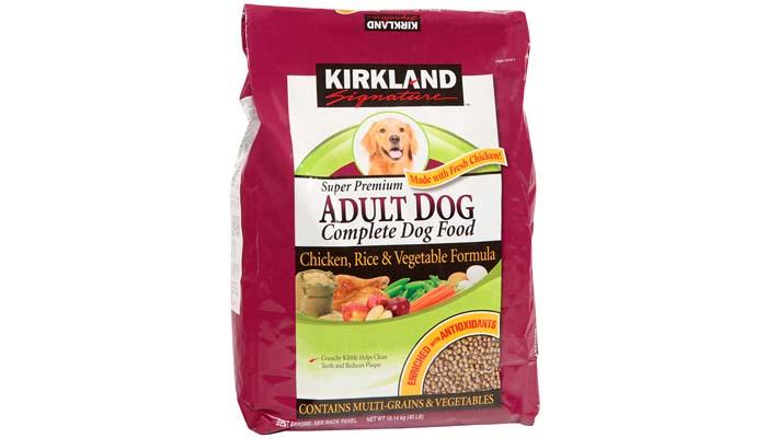 kirkland pet food ingredients for old dog